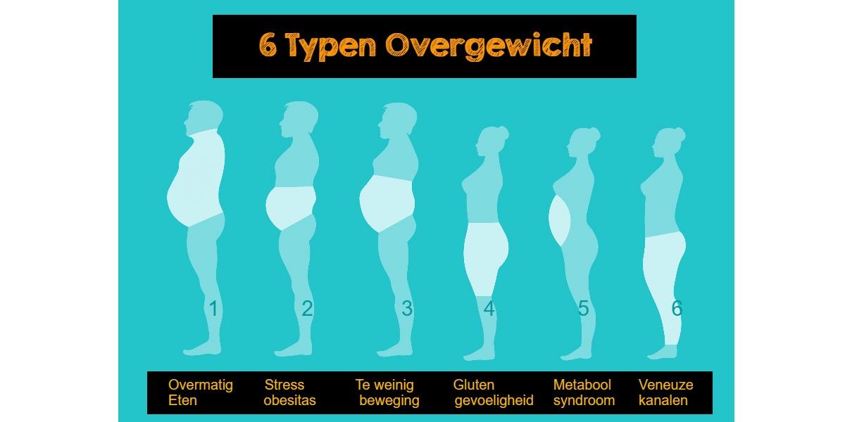 verschillende soorten overgewicht 6 typen obesitas