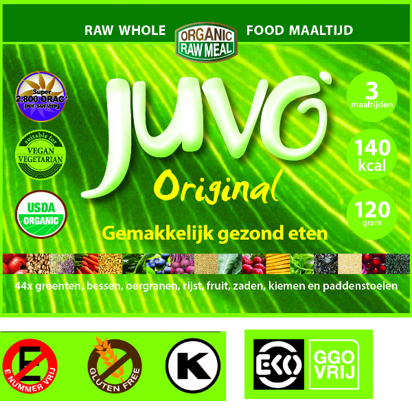 Juvo original raw whole food  3 maaltijden 120 gram