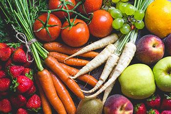 gezond eten met juvo en groenten en fruit
