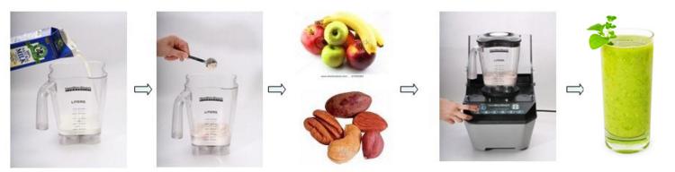 Gebruikaanwijzing hoe maak je een juvo smoothie